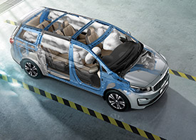 The KIA Grand Sedona at Sandton offers advanced anti-collision features and a high strength chassis for maximum safety.