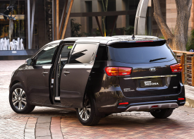 Quality of Lfe. The KIA Grand Sedona's exterior at Sandton has been designed to reflect the concept.