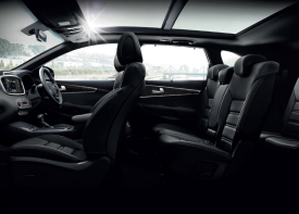 The KIA Sorento interior at Sandton is a refuge of sophistication, craftsmanship and powerful, targeted ventilation.